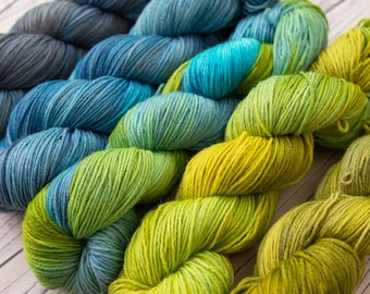 Fade Sets - Merino 4Ply Yarn - Hand dyed one of a kind