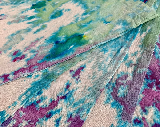 Hand dyed cotton shopping bag