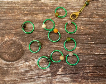 Handmade stitch markers - ring style - knitting
