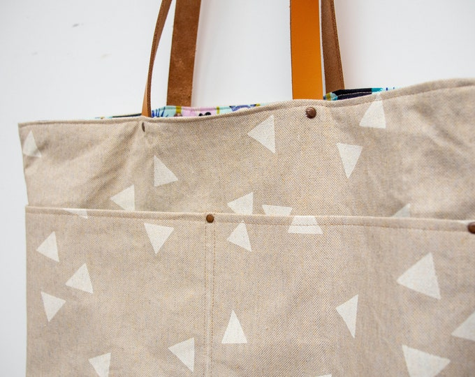 Tote bag - cotton & waxed canvas