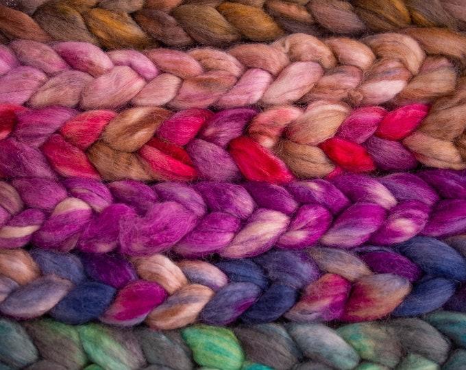 Bluefaced Leicester, Alpaca & Tussah Silk Tops 100g