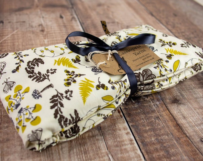 Handmade wheat bag with lavender & removable cover - large - cream forest