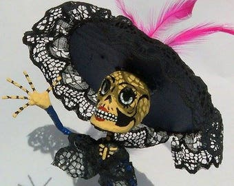 Catrina Papercraft, papier mache, Day of the dead