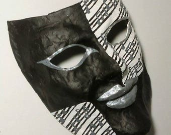 Mexican  mask made of paper mache Music
