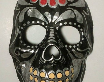 Mexican skull mask made of paper mache