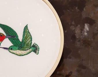 Hummingbirds - Embroidery Art - Hoop Art