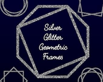 Download Gold Glitter Clip Art Geometric Frames Glitter Pattern Etsy