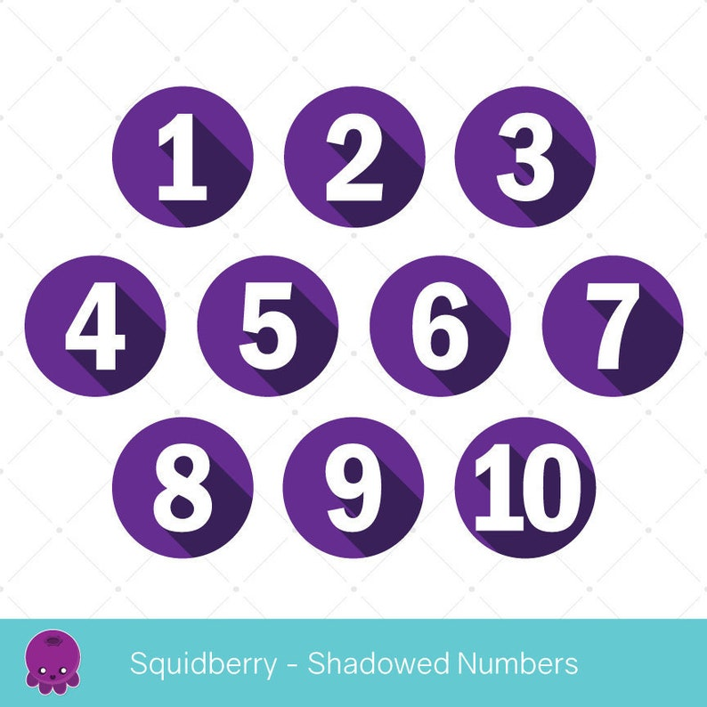 Vectormenez Clipart Clipart Numbers In Circles