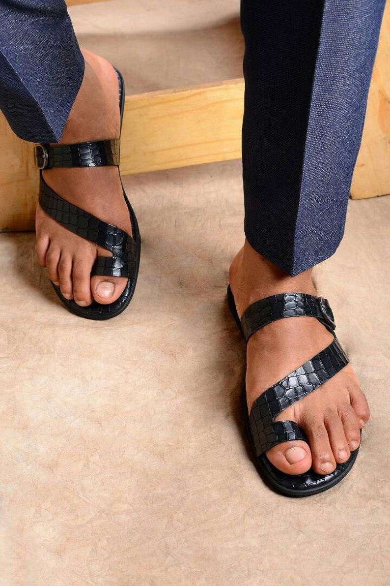 Leder Zehenring Sandalen Männer Sommer Sandalen Männer