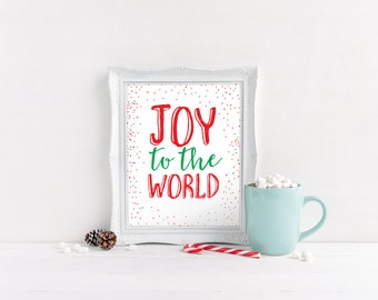 Joy to the World Wall Art, Christmas Wall Art, Christmas Wall Decor, Joy to the World Decorations, Joy to the World Christmas Decorations