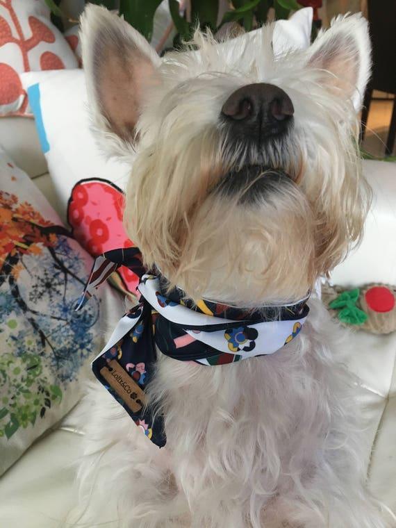 ,Neck Scarf 100/% cotton Lined Gift. Dog Neckerchief Dog Bandana Quality Bespoke Pink Tartan Embroidered Personalised