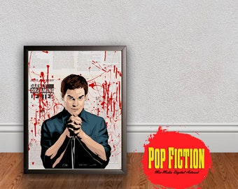 Dexter Morgan Original Artwork Canvas & Prints. Comics, Book, Collectible. Digital Mix-Media Art. Pop Culture.