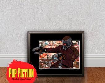 Guardians of the Galaxy Original Artwork Canvas & Prints. Comics, Book, Collectible. Digital Mix-Media Art. Pop Culture.