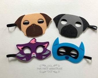 SET OF 4 Puppy Dog Pals Party Masks,Puppy Dog Pals Party,Puppy Dog Pals Party Favors,Puppy Dog Pals Birthday, Puppy Dog Pals Banner,Pug Mask