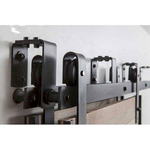 New style bypass barn door hardware sliding door kit 5ft - Exterior sliding door hardware kits ...