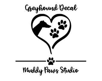 Personalized Greyhound Decal, Custom Greyhound Decal, Greyhound, Greyhound Decal, Greyhound Sticker, Decal, Custom Decal, Custom Dog Decal