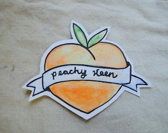 Vinyl Charming Peachy Keen Laptop Sticker