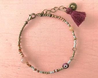 Handmade Delicate Beaded Bracelet Small