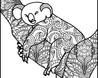 Animal Adult Coloring Page Turtle Coloring Page For Adults Etsy