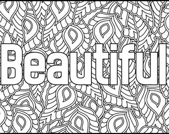 Positive Affirmations Coloring Pages For Adults Beautiful Adult Page Printable Inspiring Grown Up