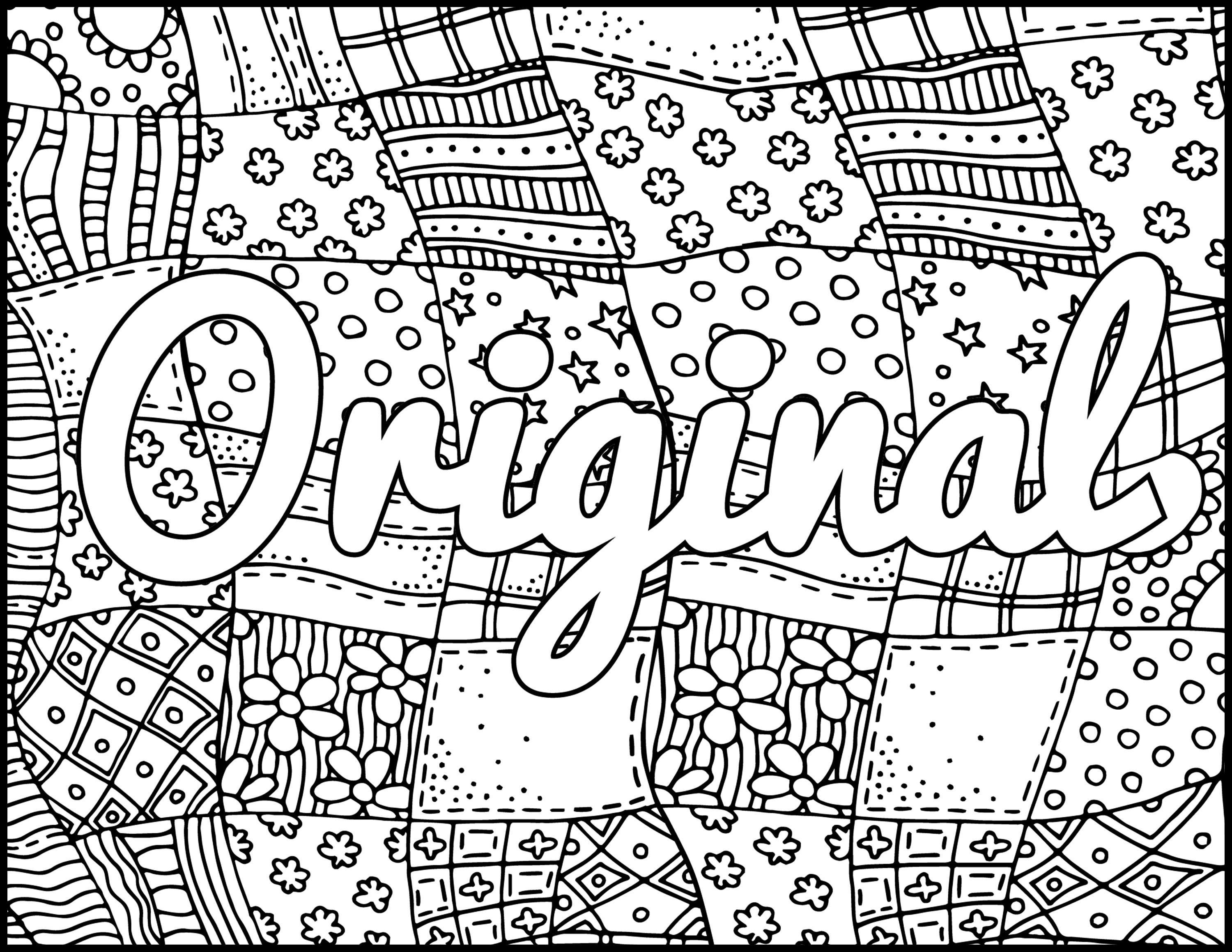 I Am Original Printable Coloring Page Positive Coloring ...