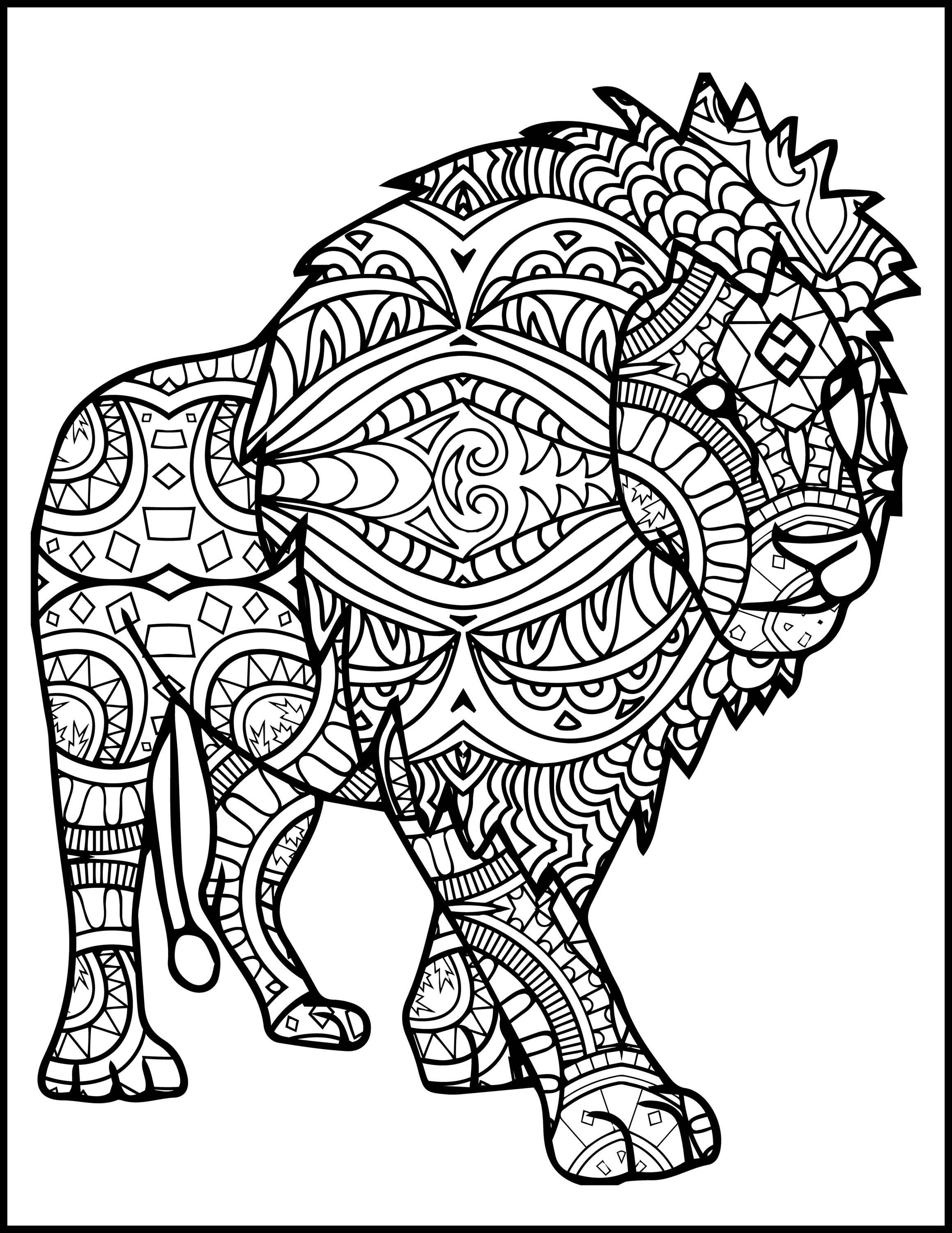 lion coloring pages for adults 3 Printable Pages for Coloring for Lion Lovers Coloring | Etsy lion coloring pages for adults