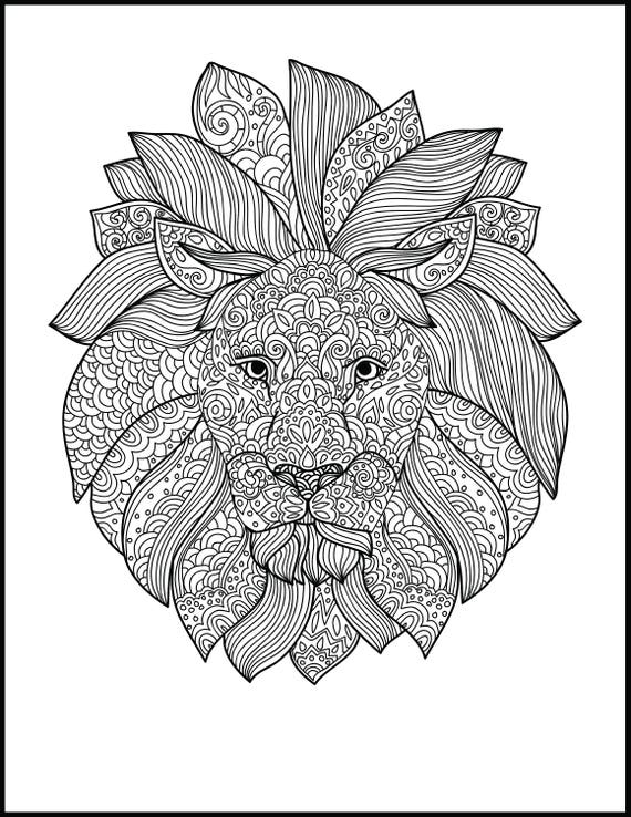 graphic regarding Printable Lion Coloring Pages titled Printable Grownup Coloring Site - Animal Coloring Webpage - Lion Coloring Web page for Grownups - Present Coloring Web site for Lion Enthusiasts - Print Your Personal