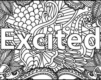 5 Printable Coloring Pages - I AM Coloring Bundle - Coloring Pages for Adults - Inspirational Coloring Pages - Gifts for Her - Coloring Book