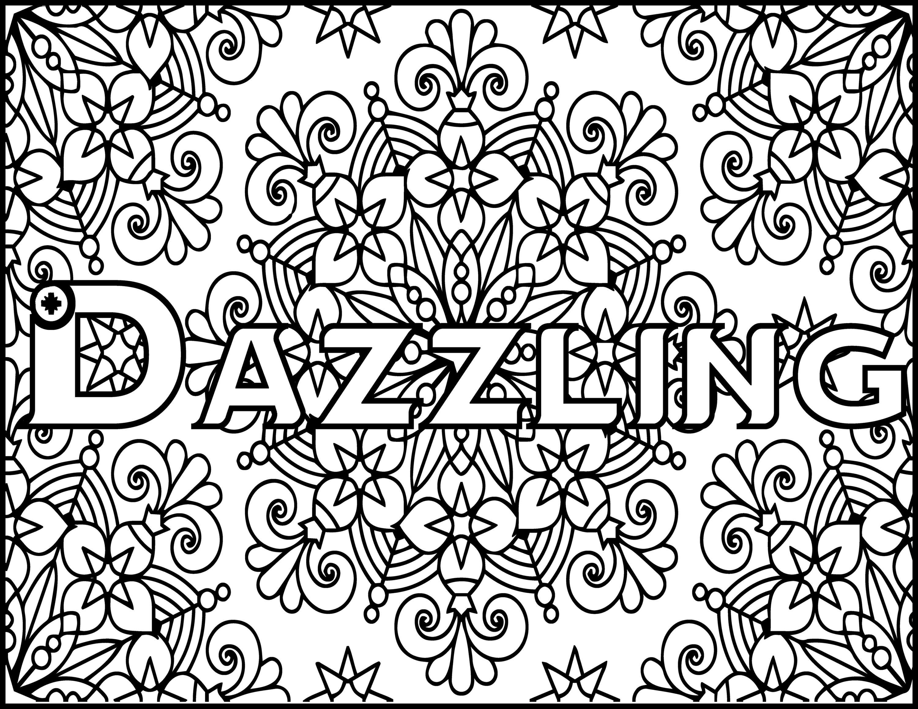 Adult Coloring Pages Dazzling Grown Up Coloring Page Etsy