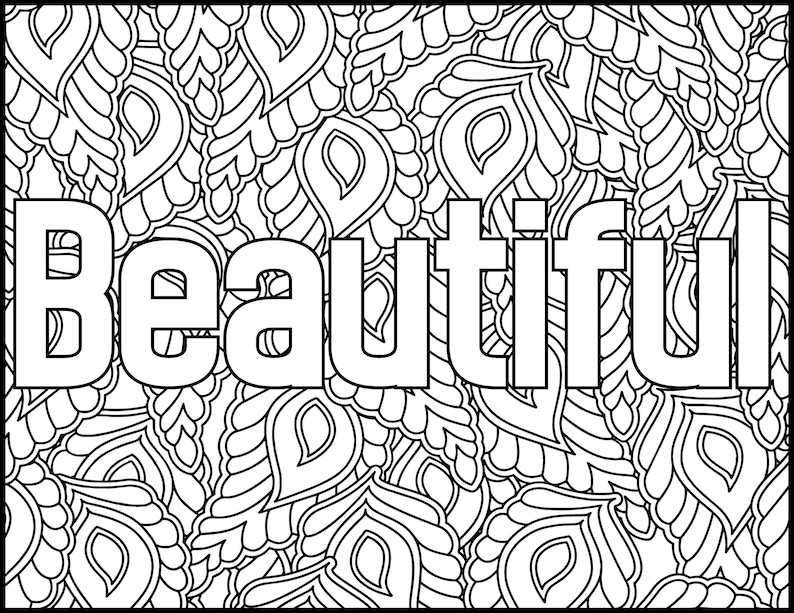Positive Affirmations Coloring Pages for Adults-Beautiful ...