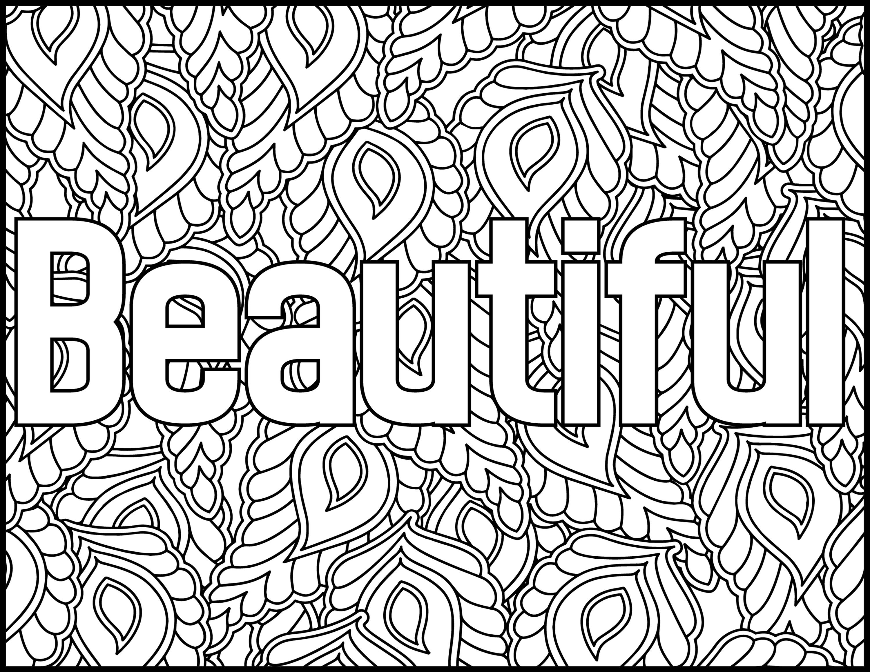 grown up coloring pages inspirational | Positive Affirmations Coloring Pages for Adults-Beautiful ...