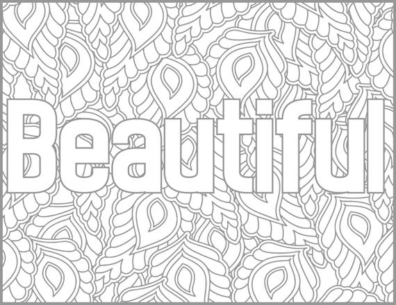 Positive Affirmations Coloring Pages For Adults Beautiful Adult Coloring Page Printable Coloring Page Inspiring Coloring Grown Up Coloring