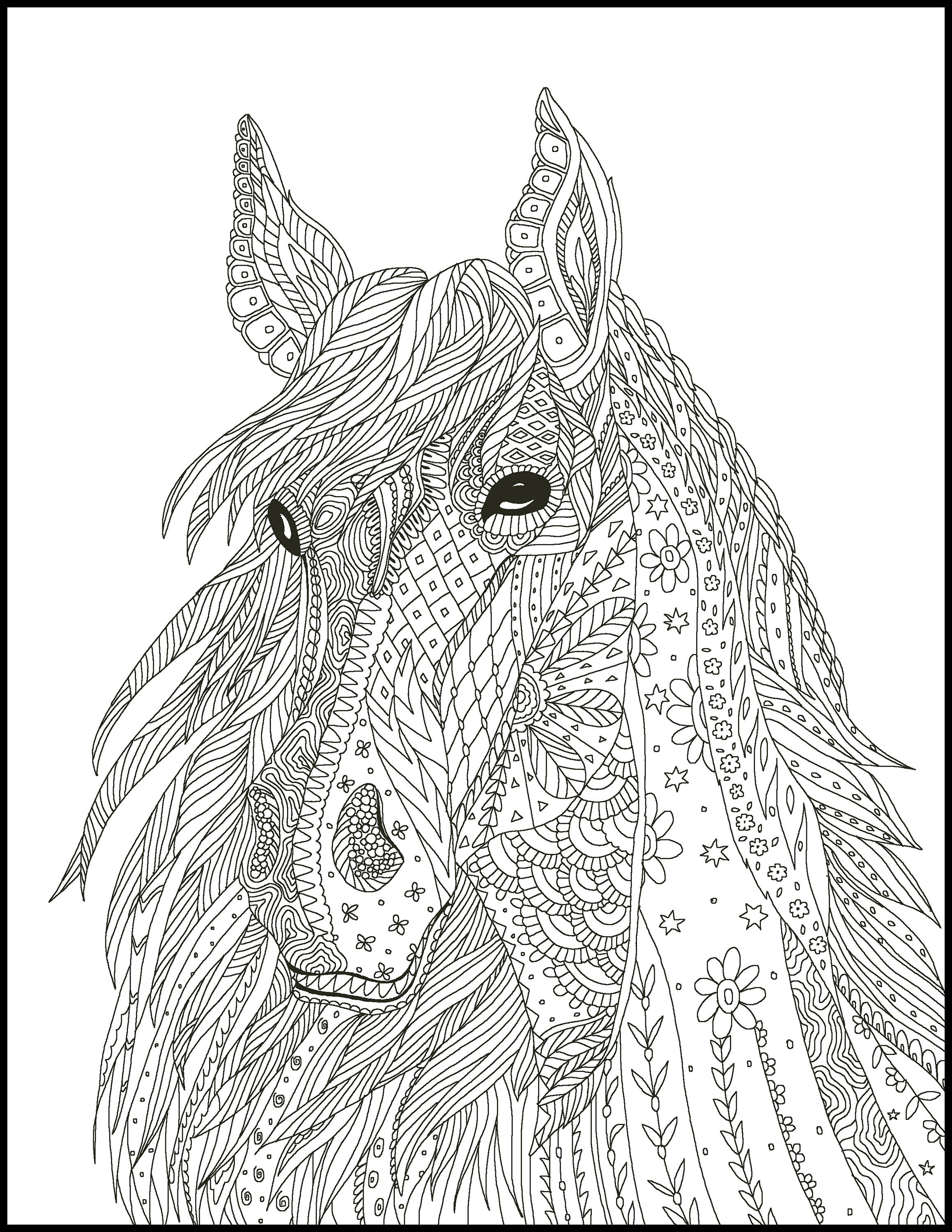 5 Horse Coloring Pages Coloring Pages For Horse Lovers Etsy