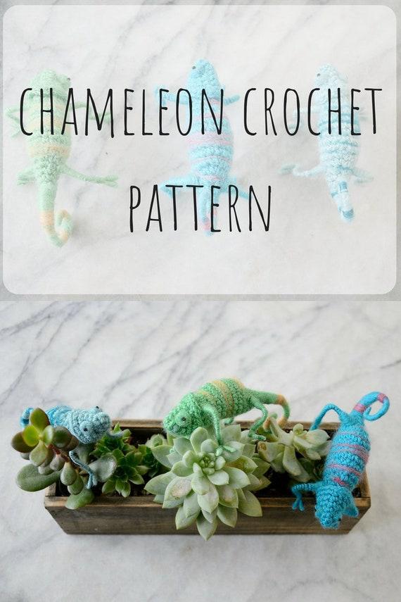 Chameleon (lizard) amigurumi crochet pattern : PlanetJune Shop ... | 855x570