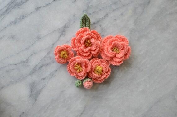 Crochet Flower Pattern Tiny Peonies Etsy