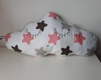 Cuddly cloud bi-material cushion