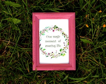 Cerise pink Frame - Wedding Frames, Shabby Chic Rustic Picture Frames