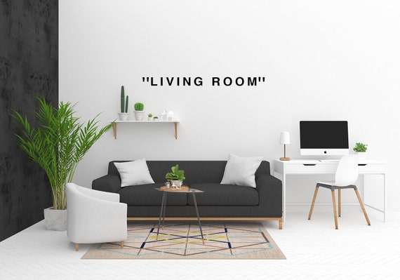 OFF -WHITE Inspired Living Room Wall decal/ Virgil Abloh / Gifts/ House  warming Gift/ Wall Art / Wall decor / Personalised