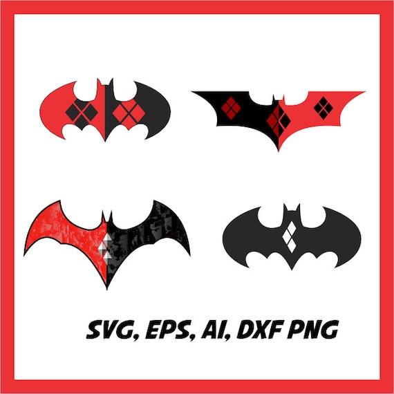 Harley Quinn Und Batman In Svg Eps Dxf Ai Png Etsy