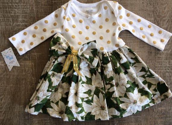 56bbd92d5b32 0-3 Month Dress Newborn Christmas Dress Baby Girl Dress