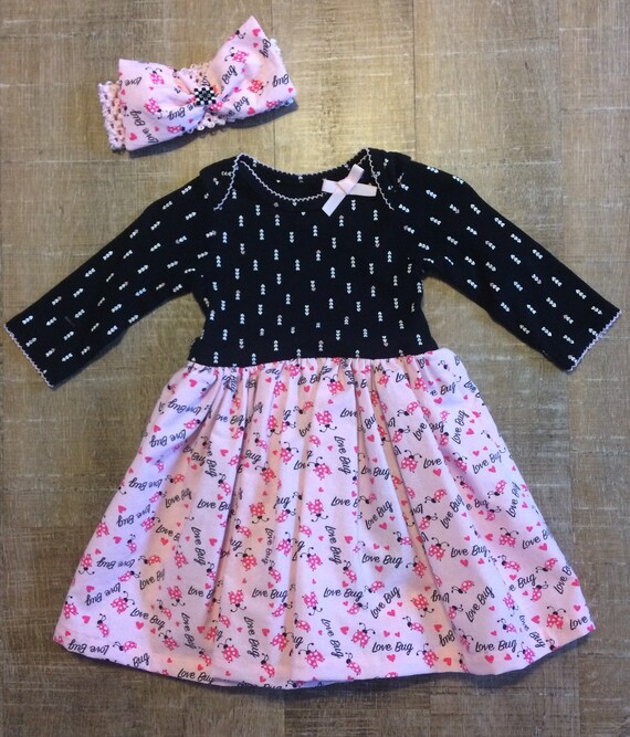 NEW 3-6 months Baby girls summer dress With Attached Bodysuit