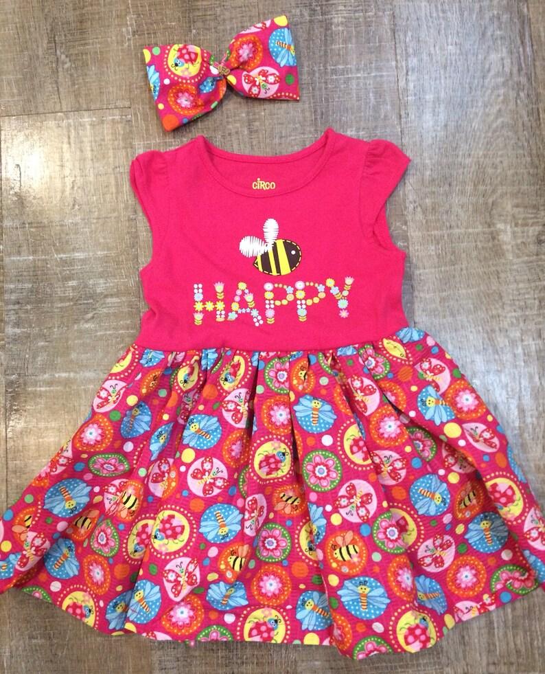 41f47870d 18mth dress, 12-18 month dress, hot pink dress, baby bug dress, 12-18 month  bug dress, baby bee dress, summer romper, sundress, baby girl