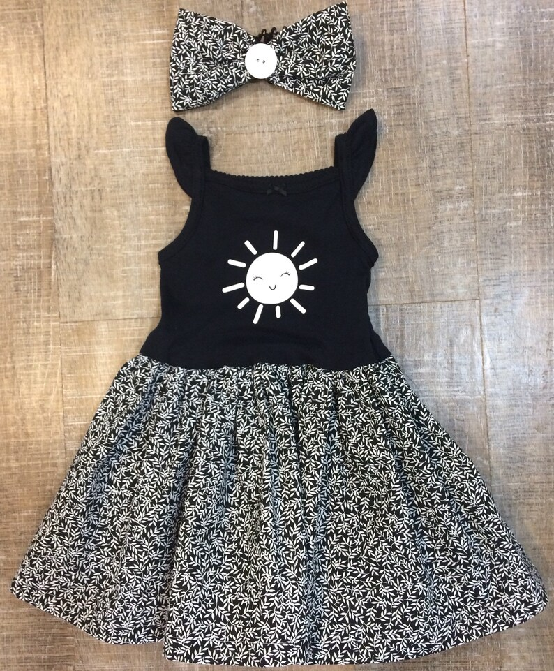 e7d194ae1 9-12 month sundress black and white baby dress 9 month