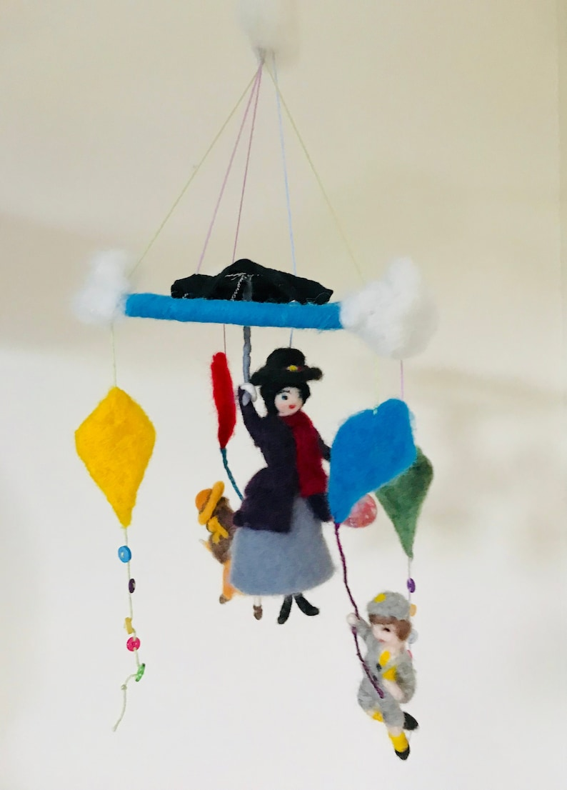 435254d17b612 Mobile Handmade Mobile Ready to Ship Mary Poppins style