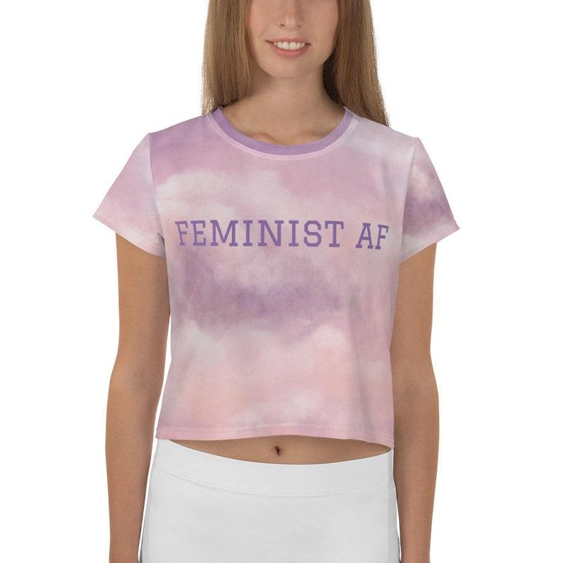 Feminist AF Print Crop Tee