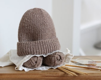 Knitting kit - Classic Beanie - Knit Hat for Men, Women and Kids