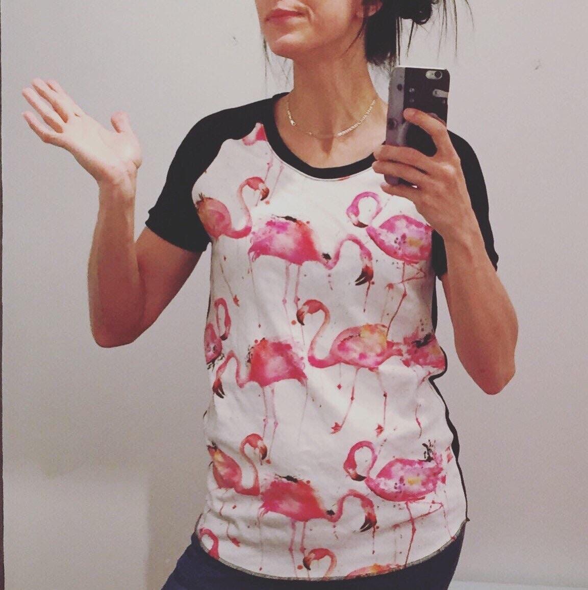 d22ff3051e8eca Women organic cotton pink flamingos