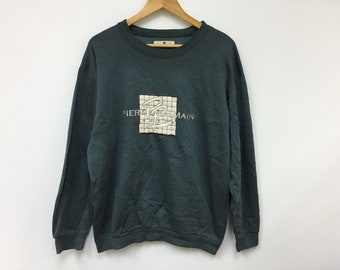 c81bc8842e4d Vtg Pierre Balmain Paris embroidered big logo green sweatshirt size medium  Gaultier raf simons comme des garcons issey miyake yohji yamamoto