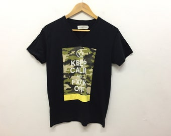 4ae013b6f VANQUISH keep calm and Fxx off camo tee number nine Issey Miyake Comme des  Garcons undercover wtaps Bape visvim fragment Design