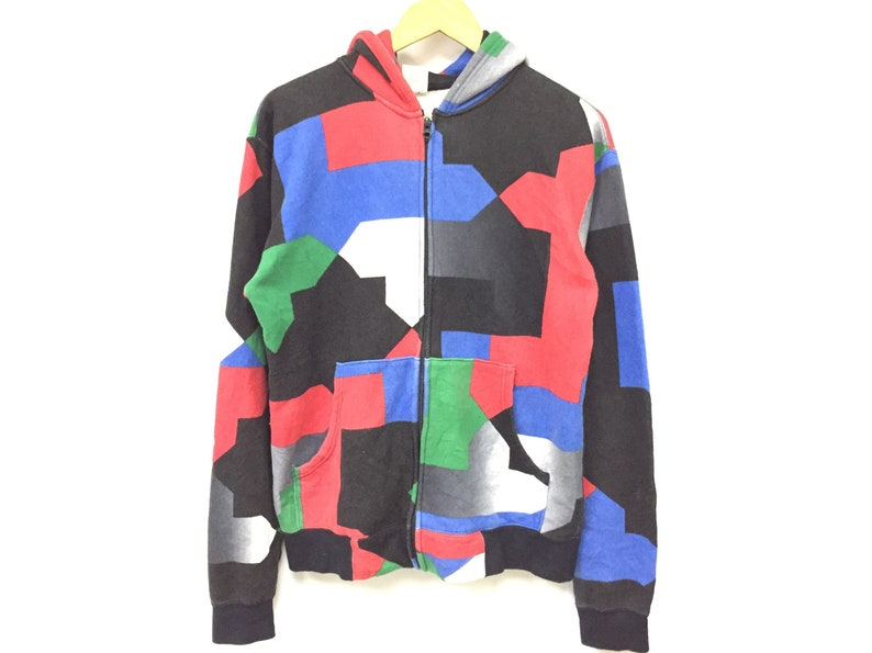 813ddde9d5dd9 Vintage PHENOMENON Color block patchwork design hoodie Supreme Undercover  streetwear wtaps number nine bape comme des garcons needles visvim